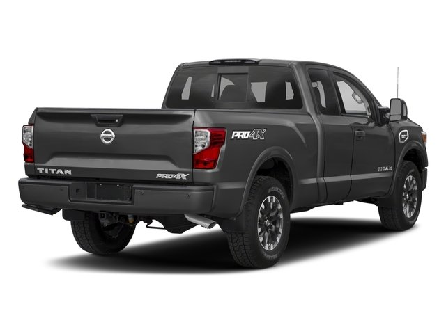 2017 Nissan Titan Prices and Values King Cab PRO-4X 4WD side rear view