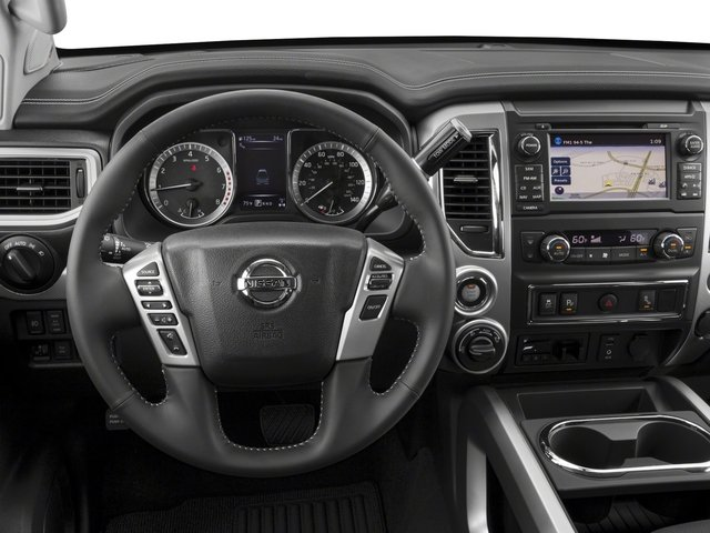 2017 Nissan Titan Prices and Values King Cab PRO-4X 4WD driver's dashboard