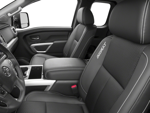 2017 Nissan Titan Prices and Values King Cab PRO-4X 4WD front seat interior