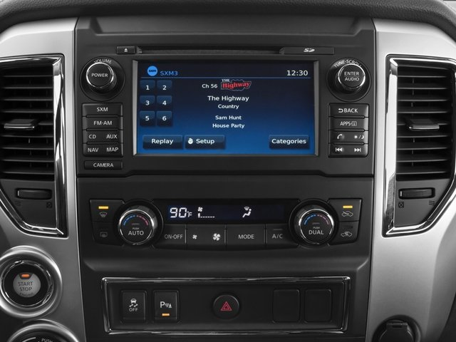 2017 Nissan Titan XD Prices and Values Crew Cab SL 2WD stereo system
