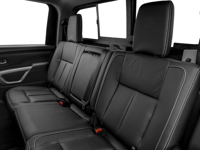 2017 Nissan Titan XD Prices and Values Crew Cab PRO-4X 4WD backseat interior