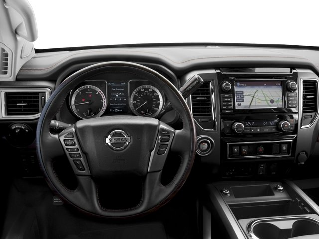 2017 Nissan Titan XD Prices and Values Crew Cab Platinum Reserve 4WD driver's dashboard