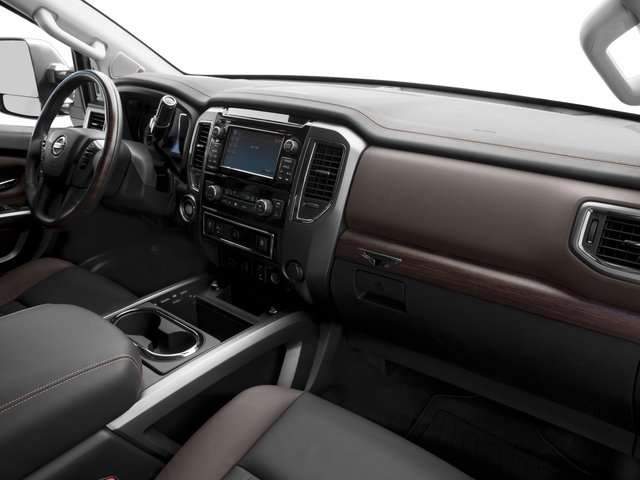 2017 Nissan Titan XD Prices and Values Crew Cab Platinum Reserve 2WD passenger's dashboard