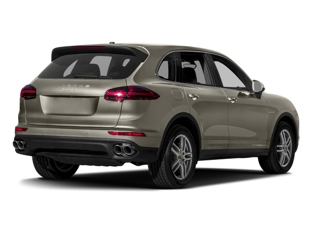 2017 Porsche Cayenne Pictures Cayenne S E-Hybrid Platinum Edition AWD photos side rear view