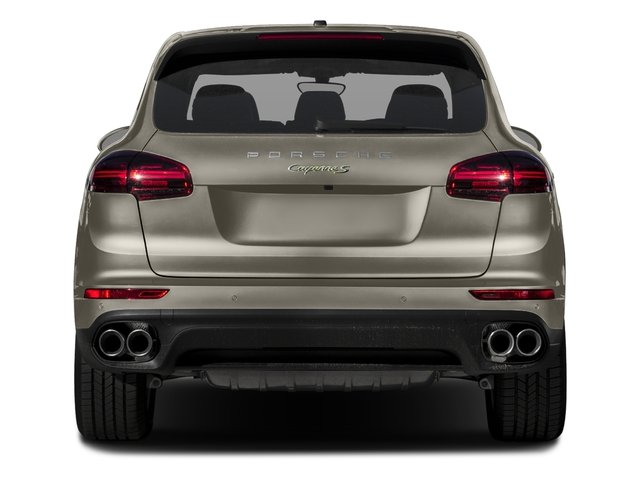 2017 Porsche Cayenne Pictures Cayenne S E-Hybrid Platinum Edition AWD photos rear view