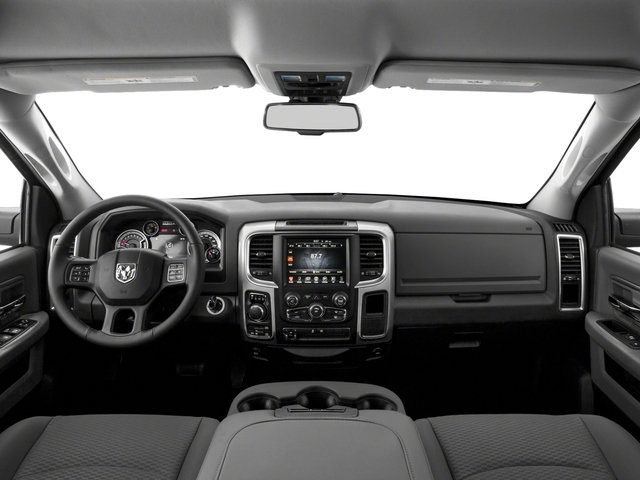 2017 Ram Truck 1500 Pictures 1500 Lone Star Silver 4x2 Crew Cab 5'7 Box photos full dashboard