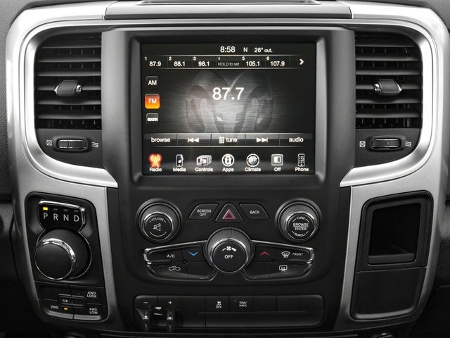2017 Ram Truck 1500 Base Price Lone Star Silver 4x4 Crew Cab 6'4 Box Pricing stereo system