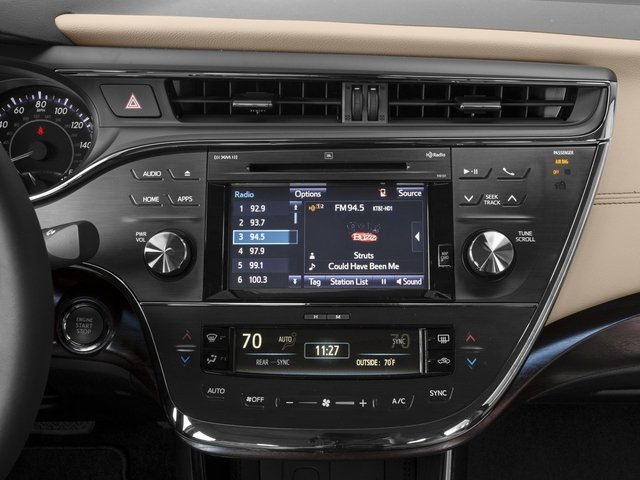 2017 Toyota Avalon Base Price Limited Pricing Stereo System