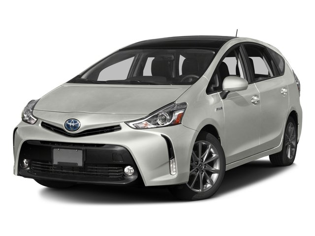 2017 Toyota Prius v Pictures Prius v Liftback 5D v Five I4 Hybrid photos side front view