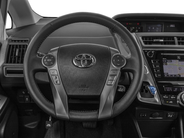 2017 Toyota Prius v Pictures Prius v Liftback 5D v Five I4 Hybrid photos driver's dashboard