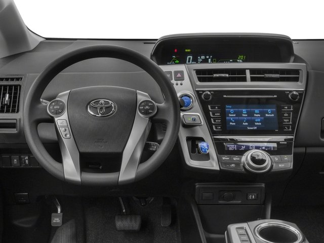 2017 Toyota Prius v Prices and Values Liftback 5D v Two I4 Hybrid driver's dashboard