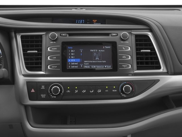 2017 Toyota Highlander Prices and Values Utility 4D LE Plus 2WD V6 stereo system