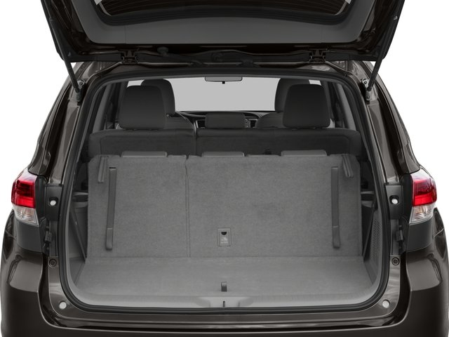 2017 Toyota Highlander Prices and Values Utility 4D LE Plus 2WD V6 open trunk