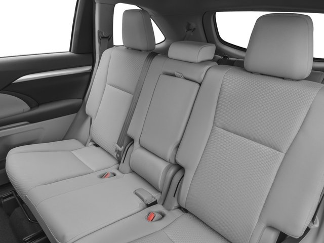 2017 Toyota Highlander Prices and Values Utility 4D LE Plus 2WD V6 backseat interior