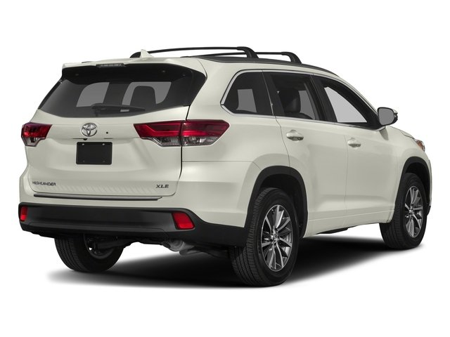 2017 Toyota Highlander Base Price Xle V6 Awd Pricing Side Rear View