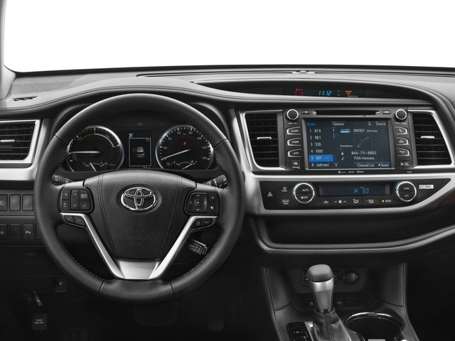 2017 Toyota Highlander Prices and Values Utility 4D Limited 4WD V6 Hybrid driver's dashboard