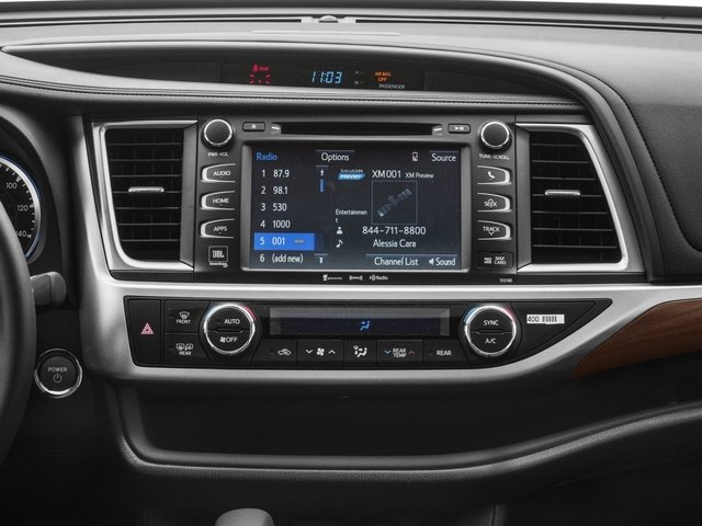 2017 Toyota Highlander Prices and Values Utility 4D Limited 4WD V6 Hybrid stereo system