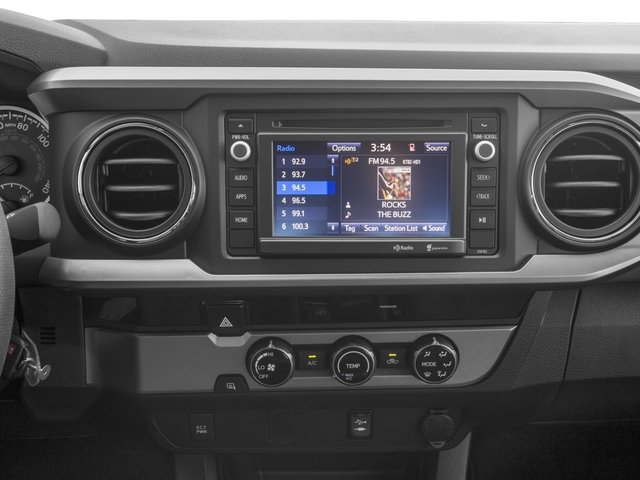2017 Toyota Tacoma Prices and Values SR5 Crew Cab 4WD V6 stereo system