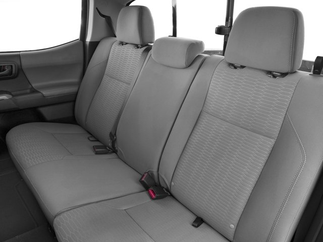 2017 Toyota Tacoma Prices and Values SR5 Crew Cab 4WD V6 backseat interior