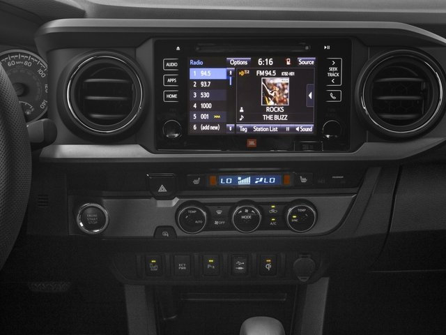 2017 Toyota Tacoma Prices and Values TRD Sport Crew Cab 4WD V6 stereo system