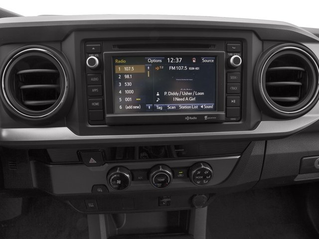 2017 Toyota Tacoma Prices and Values SR5 Extended Cab 4WD V6 stereo system