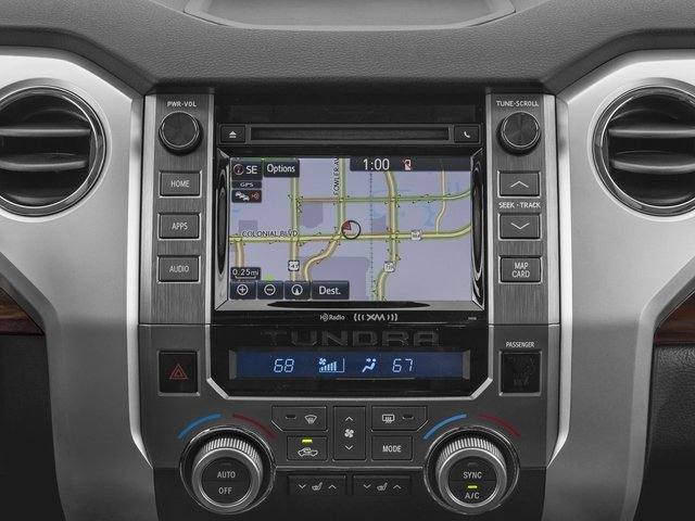 2017 Toyota Tundra 4WD Prices and Values Limited CrewMax 4WD navigation system