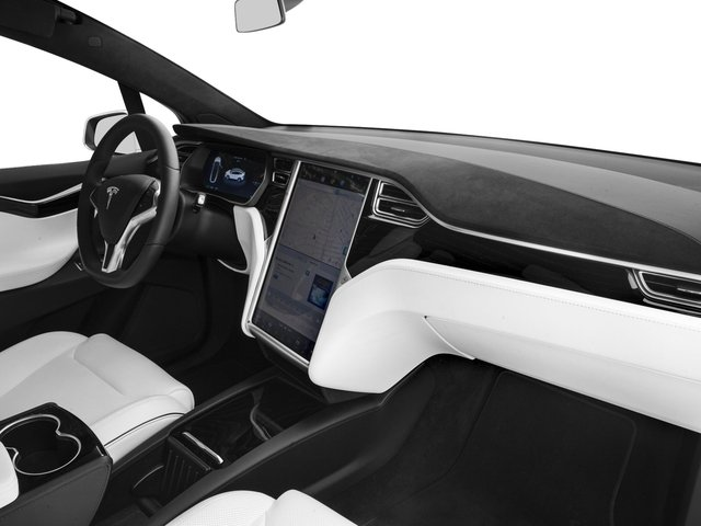 2017 Tesla Motors Model X Prices and Values Util 4D Performance 100 kWh AWD Elec passenger's dashboard