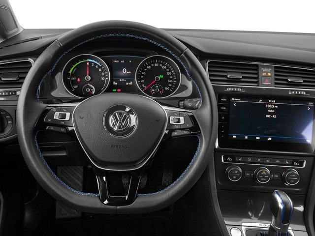 2017 Volkswagen e-Golf Base Price 4-Door SE Pricing driver's dashboard