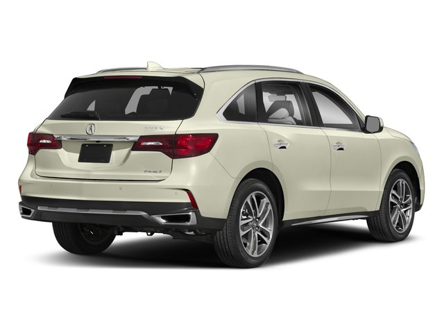 2018 Acura MDX Pictures MDX Utility 4D Advance DVD AWD photos side rear view