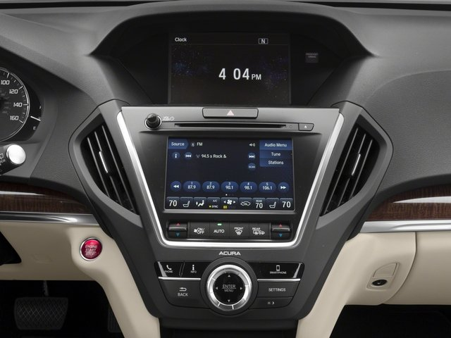 2018 Acura MDX Base Price SH-AWD Pricing stereo system
