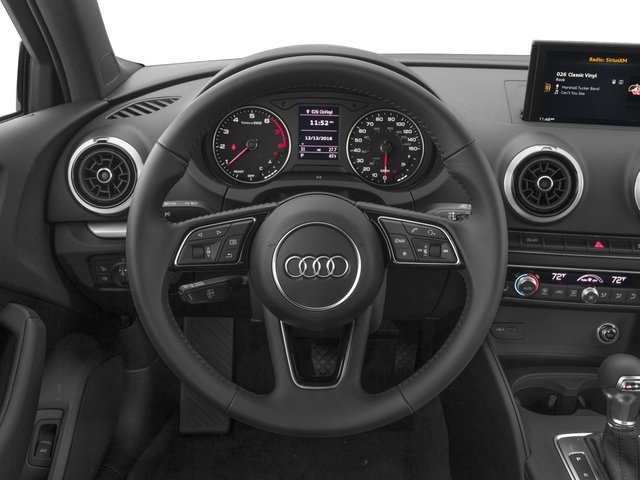 2018 Audi A3 Sedan Base Price 2.0 TFSI Tech Premium FWD Pricing driver's dashboard