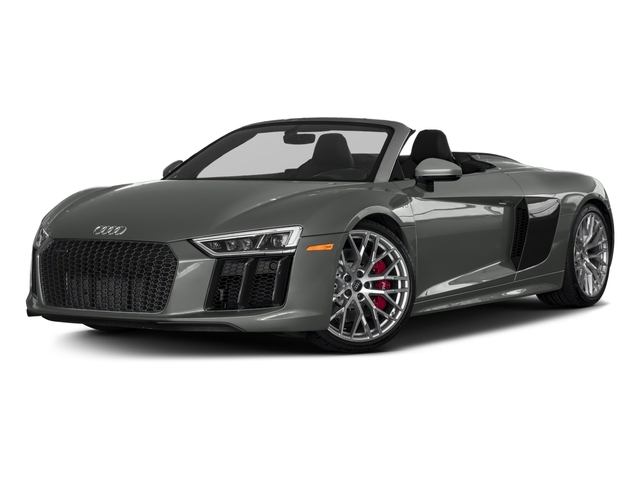 2018 Audi R8 Spyder Base Price V10 plus quattro AWD Pricing side front view