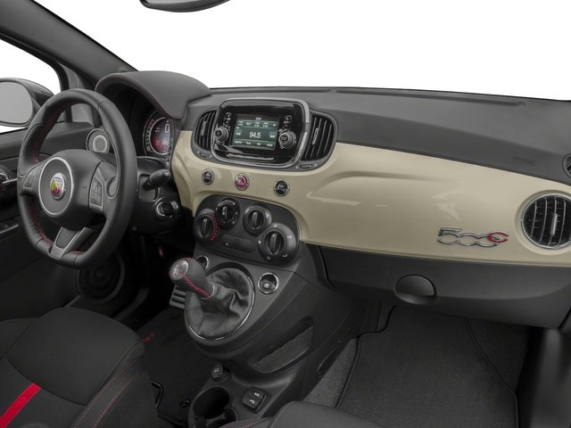 2018 FIAT 500c Base Price Pop Cabrio Pricing passenger's dashboard