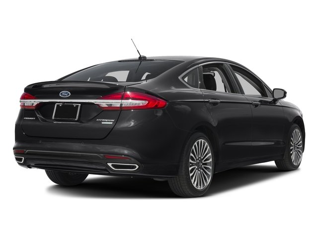 2018 Ford Fusion Base Price Titanium AWD Pricing side rear view