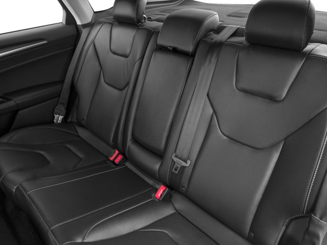 2018 Ford Fusion Base Price Titanium AWD Pricing backseat interior