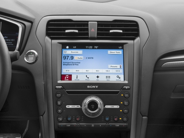 2018 Ford Fusion Base Price Sport AWD Pricing stereo system