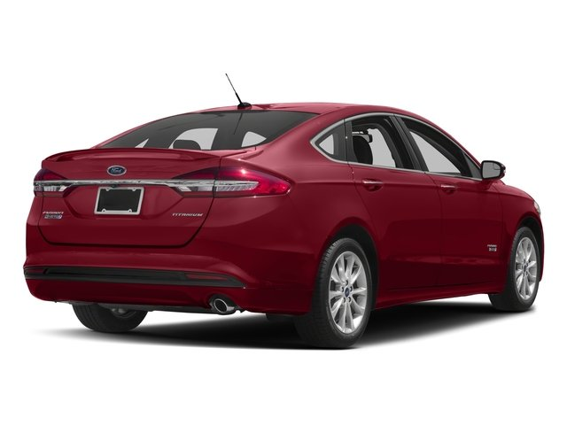 2018 Ford Fusion Energi Base Price Titanium FWD Pricing side rear view