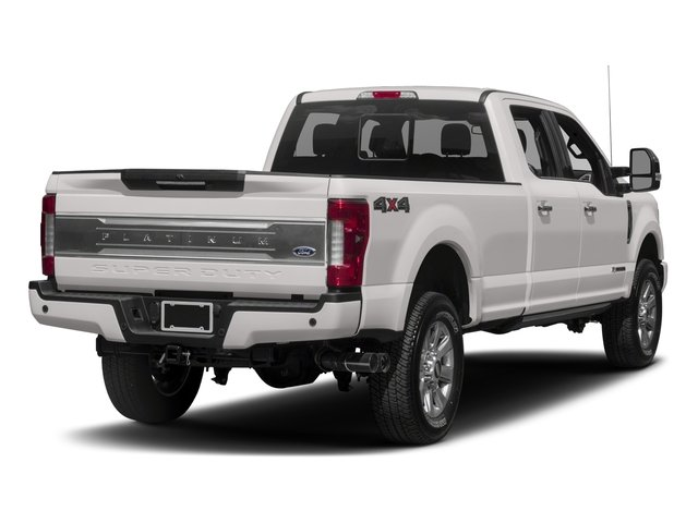 2018 Ford Super Duty F-250 SRW Prices and Values Crew Cab Platinum 4WD side rear view