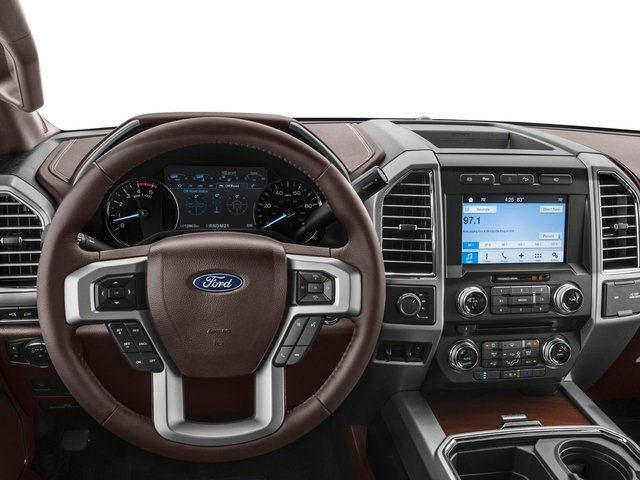 2018 Ford Super Duty F-350 DRW Base Price King Ranch 4WD Crew Cab 8' Box Pricing driver's dashboard