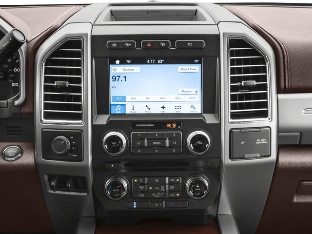 2018 Ford Super Duty F-350 DRW Pictures Super Duty F-350 DRW Crew Cab King Ranch 2WD photos stereo system