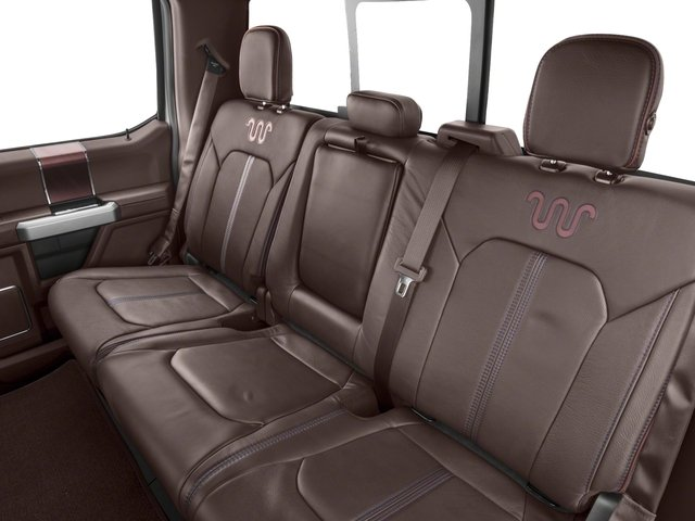 2018 Ford Super Duty F-350 DRW Base Price King Ranch 4WD Crew Cab 8' Box Pricing backseat interior