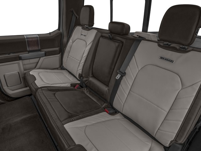 2018 Ford Super Duty F-350 DRW Base Price Limited 4WD Crew Cab 8' Box Pricing backseat interior