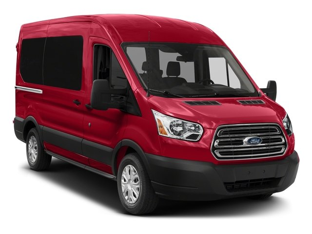 2018 Ford Transit Passenger Wagon Pictures Transit Passenger Wagon Passenger Van XL Medium Roof photos side front view
