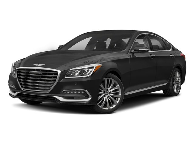 2018 Genesis G80 Base Price 5.0L Ultimate RWD Pricing side front view