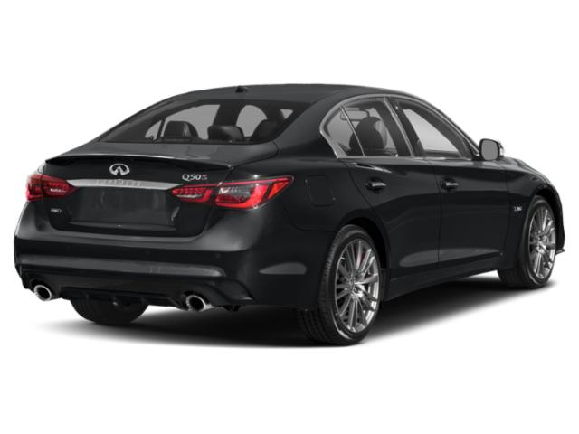 2018 INFINITI Q50 Pictures Q50 Sedan 4D 2.0T Pure AWD photos side rear view