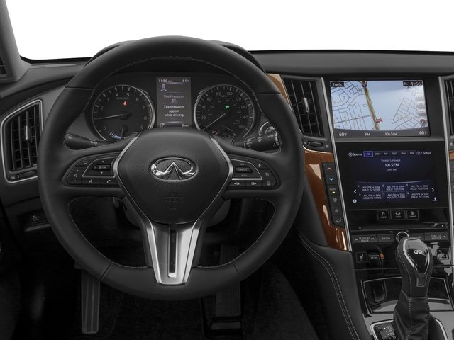2018 INFINITI Q50 Base Price Hybrid LUXE AWD Pricing driver's dashboard