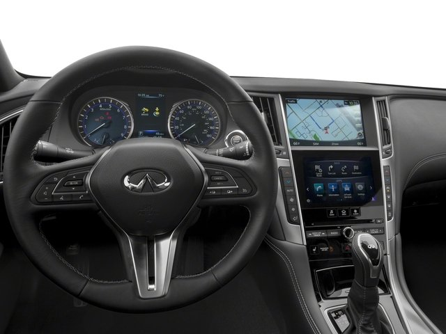 2018 INFINITI Q60 Base Price SPORT RWD Pricing driver's dashboard