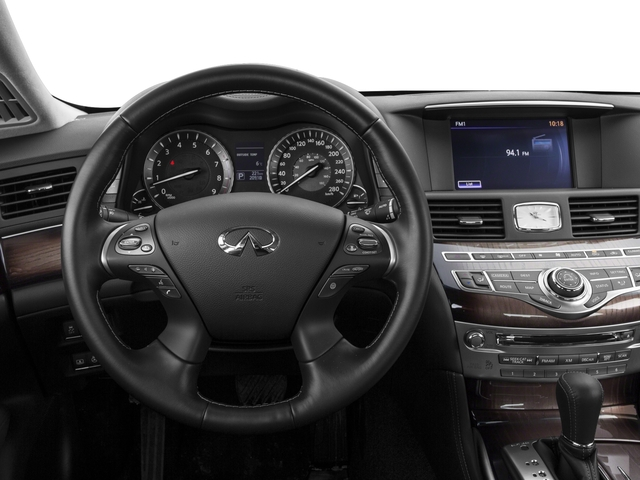 2018 INFINITI Q70L Base Price 3.7 LUXE RWD Pricing driver's dashboard