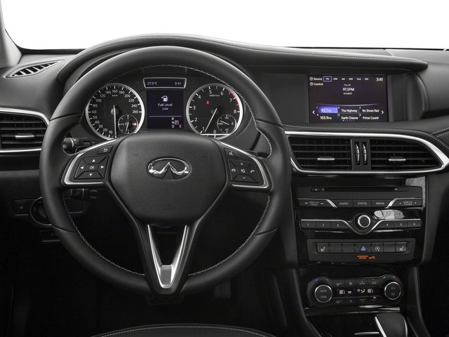 2018 INFINITI QX30 Base Price Luxury AWD Pricing driver's dashboard