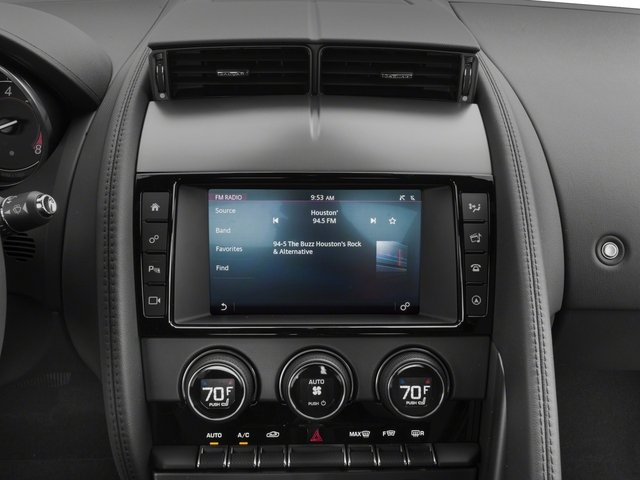 2018 Jaguar F-TYPE Base Price Coupe Auto 380HP Pricing stereo system